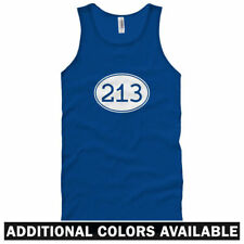 Area Code 213 Unisex Tank Top - Men Women XS-2X  Los Angeles Echo Park Chinatown