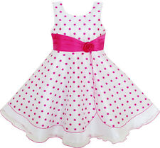 Girls Dress Polka Dot Flower Tulle Party Pageant Unique Design Age 4-12 Years