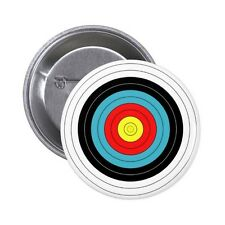 ARCHERY TARGET Pin / Button Badge 25mm, 38mm, 45mm, 58mm, 77mm