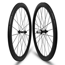 Front 50 Rear wheels 60mm carbon material 700c wheels different wheels road bike