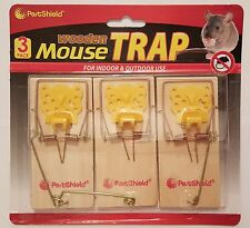 Reusable Wooden Mouse Traps Bait Mice Vermin Rodent Pest Control Mousetraps Trap