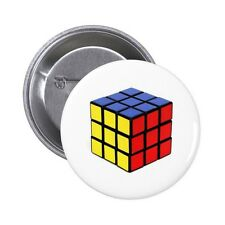 Rubik's Cube Pin / Button Badge 25mm, 38mm, 45mm, 58mm, 77mm