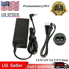New LCD AC Power Supply Adapter DC 12 Volt 5 Amp (12V 5A) LCD Monitor 5.5*2.5mm