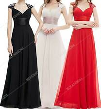 NEW Sexy V-Neck Ruffles Evening Dress Empire Line PROM DRESS