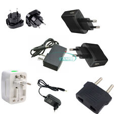AC 100-240V to DC 12V 9V 5V 1A 2A UK/EU/US Plug Power Supply Converter LED Light