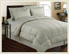 8pc Bed In Bag Hotel Comfy Dobby Embossed Comforter Set (Gray) - Queen & King