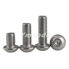 #8-32UNC Button Head Hex Socket Screws A2 Stainless Steel