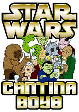 Star Wars Cantina Boys Funny T-Shirt Boys Girls Kids Age 3-15 Ideal Gift/Present