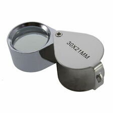 30X/40X Glass Magnifying Magnifier Jeweler Eye Jewelry Loupe Loop NT