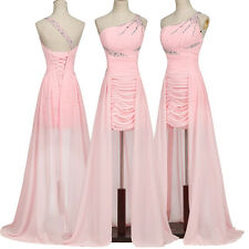 Sexy Homecoming High-Low One Shoulder Chiffon Ball Gown Evening Prom Party Dress