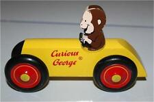 CURIOUS GEORGE yellow wooden DERBY CAR GUC
