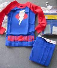 NWT Baby Gap Outlet Blue Red LIGHTNING BOLT Long Sleeve Pajamas 6-12 OR 18-24 mo