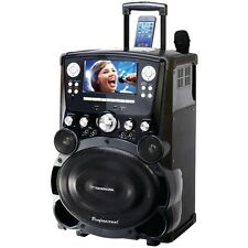 KARAOKE USA GP978 Professional DVD/CD G/MP3 G Bluetooth(R) Karaoke System with 7