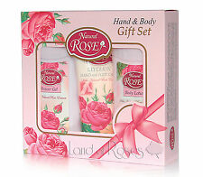 ROSE GIFT SET FACE AND BODY WITH NATURAL BULGARIAN ROSE OIL - 2 VERSIONS