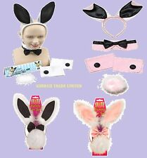 Easter Bunny Girl Rabbit 3 & 5 Pieces Ear Set Hen Night, stag Party Fancy Dress