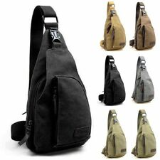 Mens Military Canvas Satchel Shoulder Bag Travel Hiking Backpack Messenger Bag