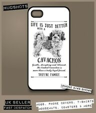 Cavachon dog phone case cover iPhone Samsung ~ Personalised FREE