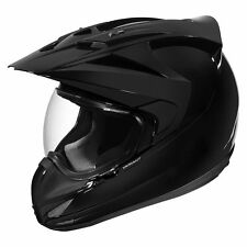 Icon Variant Solid Gloss Black Full Face Powersports Motorcycle Helmet