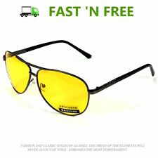 High End Aviator YELLOW LENS Day & Night Vision Sunglasses Night Driving Glasses