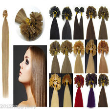 """100% Remy Real Human Hair Extensions 18""""20""""22""""100s 50g Pre Bonded Nail U Tip NEW"""