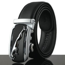 Jaguar Fashion Casual Genuine Leather Automatic Buckle Mens Belt Waistband Strap
