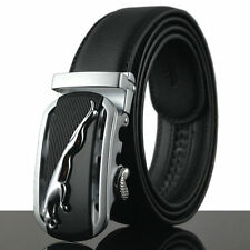 Silver Jaguar Fashion Casual Leather Automatic Buckle Mens Belt Waistband Strap