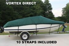 Vortex Heavy Duty *GREEN* Vhull Fish Ski Runabout Cover for 5.2m to 5.5m to 5.8m