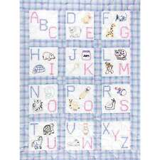 Stamped White Nursery Quilt Blocks 9 Inch X 9 Inch 12/Pkg-ABC 013155150667