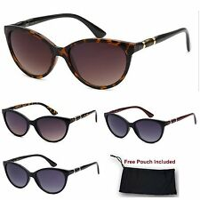 Womens CG Cat Eye Retro Vintage Designer Sunglasses Tortoise Black Gradient lens