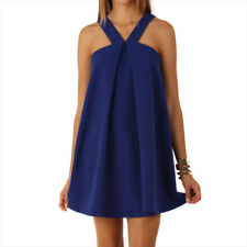 Summer Style Mini Causal Plus Size V-neck Strap Evening Party Women Dress