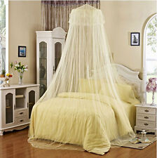 New White Yellow Elegant Lace princess Bed round Canopy Netting Mosquito Net