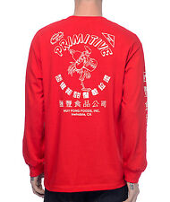 Primitive x Huy Fong Sriracha Long Sleeve Shirt Streetwear Hot Sauce Tee Top Red
