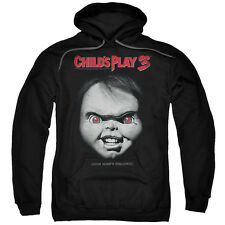 Child's Play 2 Movie BIG CHUCKY FACE POSTER Licensed Adult Sweatshirt Hoodie