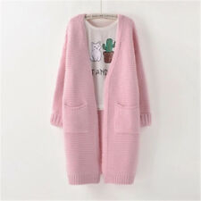 Fashion Autumn Winter Style Long Sleeve Loose Thick Knitted Cardigan