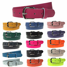 """30mm Colourful 100% Real Leather Handmade In England Mens Womens Sizes 28""""-44"""""""