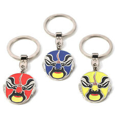Tradition Peking Opera Alloy Key Chains Face Keychain Ring Keyfob Metal Keyring