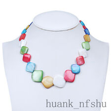 Pretty Natural Multi-color Shell MOP Gemstone Necklace For women Choker Summer
