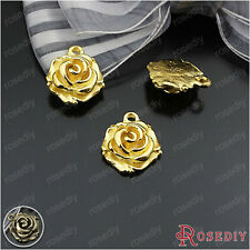 20PCS 15MM Zinc Alloy Flowers Charms Pendants Jewelry Findings Accessories 24197