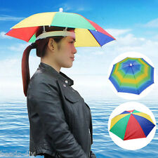 New Headwear MultiColor Umbrella Hat Cap Beach Sun Rain Fishing Camping Hunting