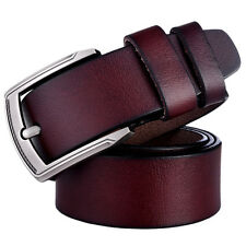 Men Belt Vintage 1 Genuine Leather Brown 2 Black Mens Casual Strap S Wide Buckle