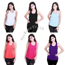 Sexy Women Tank Top Racer Back Vest T-Shirt Activewear Workout Yoga Sport Blouse