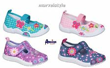 BABY GIRLS CANVAS SHOES TRAINERS NURSERY SLIPPERS UK size 3.5-7.5 /EUR 20-25 FAB