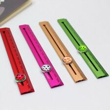 Creative 3D Fruit Metal Aluminum Slide Straight Ruler Watermelon Steel 15cm Rule