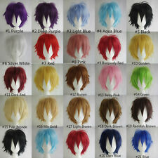 HOT SELLING!!! Fashion Straight Short Full Wigs Cosplay Party Hair Wigs