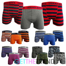 Mens Classic Boxer Shorts Plain Stripe Camoflage Army Underwear Trunk Multipack