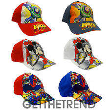 Spiderman Baseball Cap Buzz Toy Story Mickey Boys Baseball 100% Cotton Sun Hat