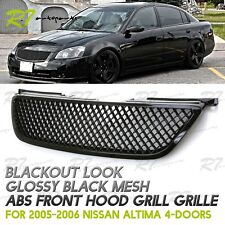 UPGRADE FOR 02-04 NISSAN ALTIMA JDM GLOSS BLACK 3D MESH FRONT HOOD GRILLE GRILL