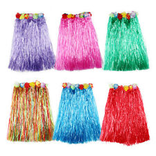 Hawaiian Dress Skirt Hula Grass Skirt With Flower Accessories Lady Costume VC