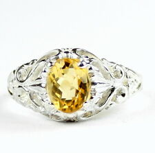 Citrine, 925 Sterling Silver Ring, SR113-Handmade