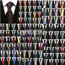 Lot Mens Groom Wedding Necktie Stripe Paisley Cravats JACQUARD WOVEN Silk Tie